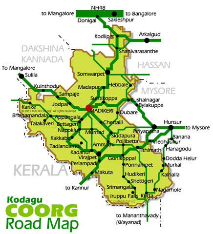 Coorg Road Map