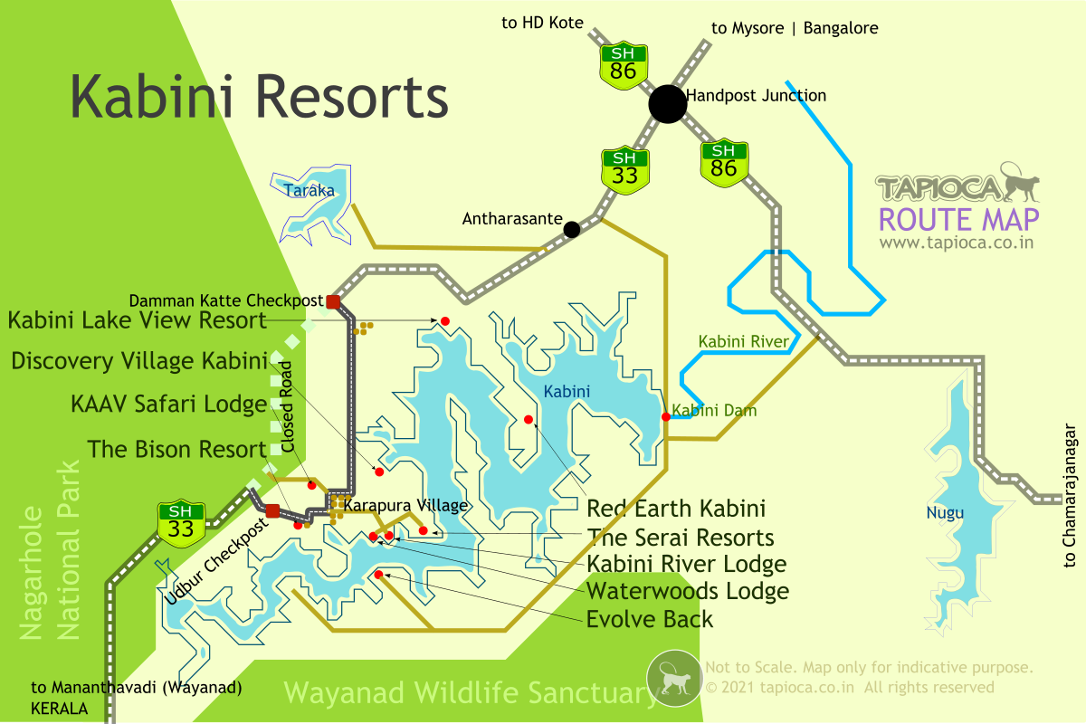 Luxury resorts around Nagarhole National Park