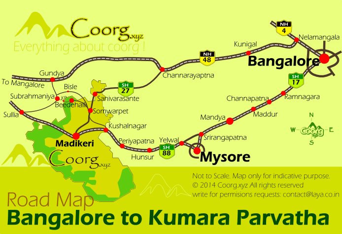 KP Trek Route Access Map